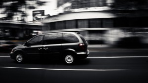 Transport von Familienwagen